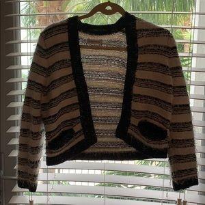 Calvin Klein Striped Cardigan - Size Small
